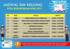 jadwal sim keliling bogor april 2017