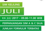 Jadwal SIM Keliling Juli 2017