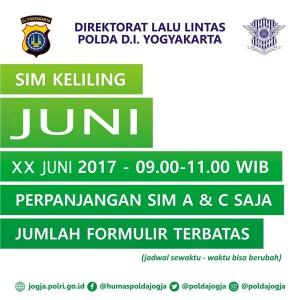 Jadwal SIM Keliling Juni 2017