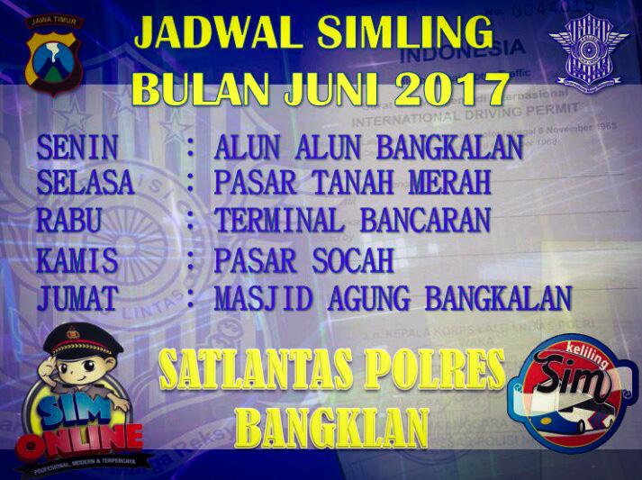 Jadwal SIMLING BANGKALAN 2017