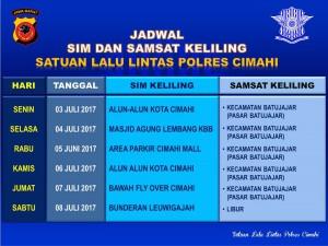 Jadwal SIM Keliling Cimahi Juni 2020